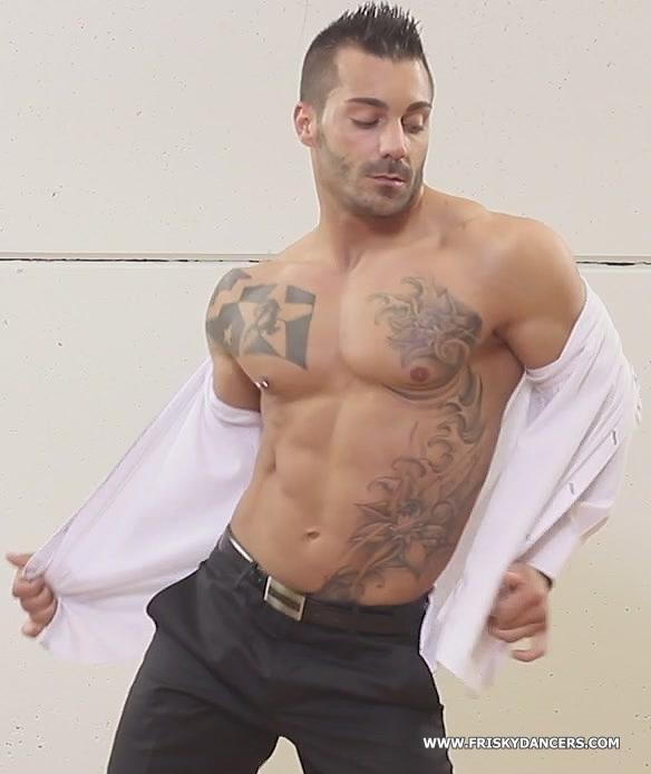male revue dancer
