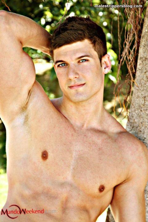 muscled male stripper Mark