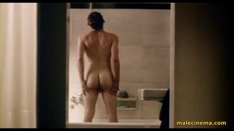 naked boy showering