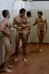Brazilian men showering
