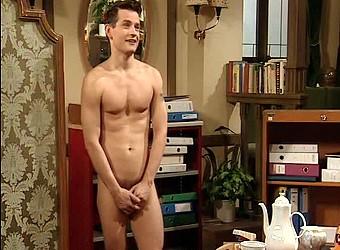naked boy posing