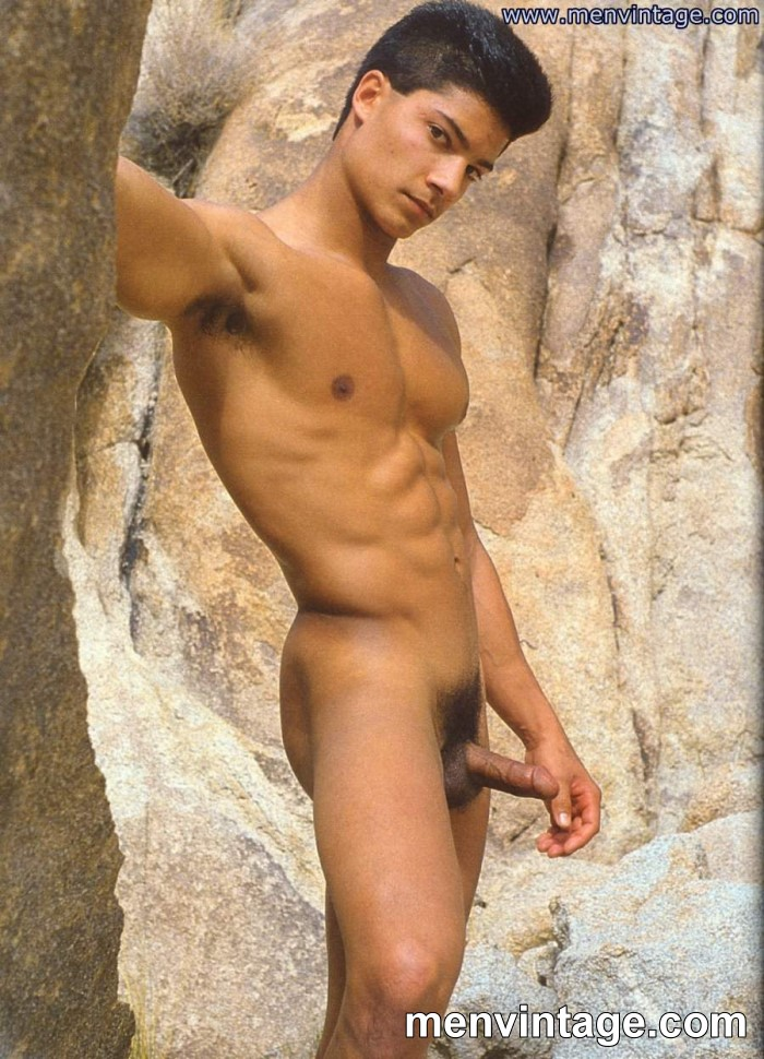 Young muscle man naked