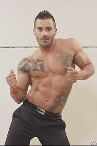 Stunning male stripper Adrian