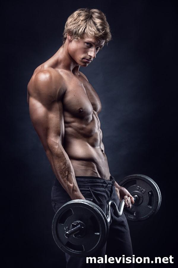 gay wal art muscle man