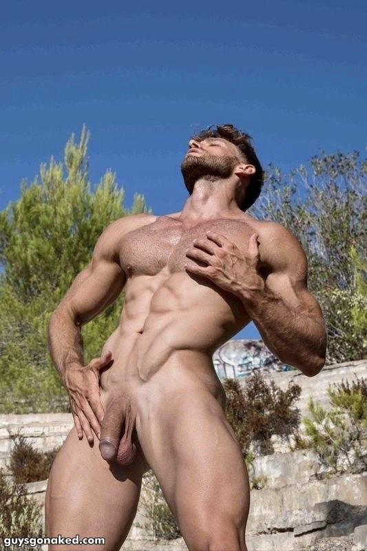 Davide Zongoli as a nudist