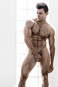 ben todd - hairy muscled hunk naked